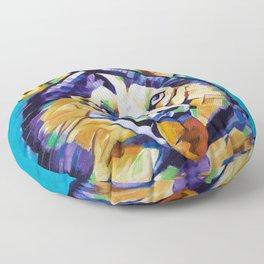 Pop Art Husky Floor Pillow