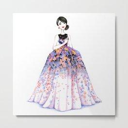 Flower Gown Metal Print