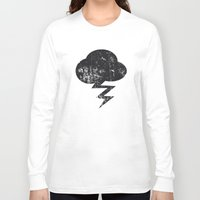 misfits Long Sleeve T-shirts featuring Cloud and Storm by Nxolab