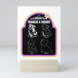 Learn to Draw Triangles & Squares Mini Art Print