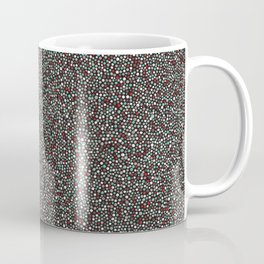 Blue w/Red Accent Dot Color Design Coffee Mug