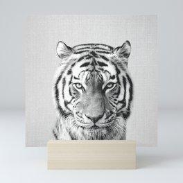 Tiger - Black & White Mini Art Print