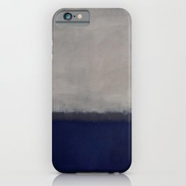 Blue and Grey - Mark Rothko iPhone Case