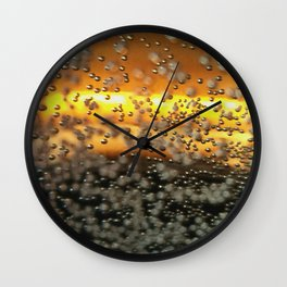 Impressions of Metallic Bubbles Wall Clock