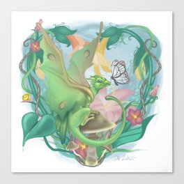 Spring Faerie Dragon Canvas Print