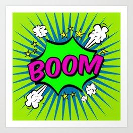 Boom Lime Boom Art Print