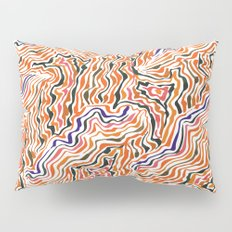 red topography Pillow Sham