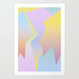 Abstract Gradient Art Print