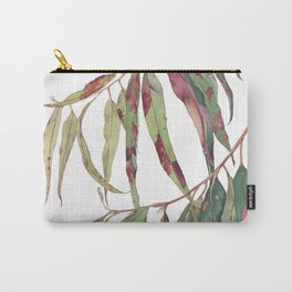 A touch of red - watercolour of eucalyptus branch Carry-All Pouch