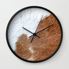 Cow Hide Print Pattern Wall Clock
