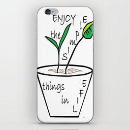 The Simple Things iPhone Skin