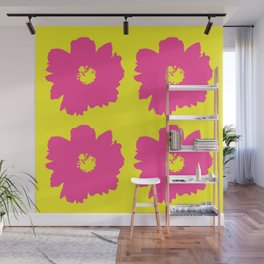 Pink Peony Bouquet (Yellow) Wall Mural