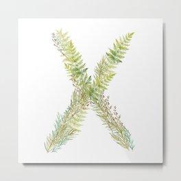 Initial X Metal Print