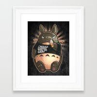 cuddle Framed Art Prints featuring CUDDLE MONSTER by Tim Shumate