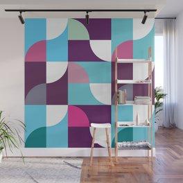Geometric Pattern 5 (blue purple) Wall Mural