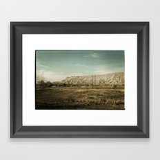 Colorado Foothills Framed Art Print