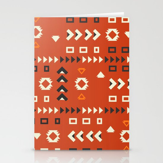 American native shapes in red by cocosabstractions