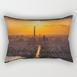 Beautiful Sunset in Tianjin Rectangular Pillow