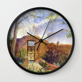 A Southwestern Gate Wall Clock