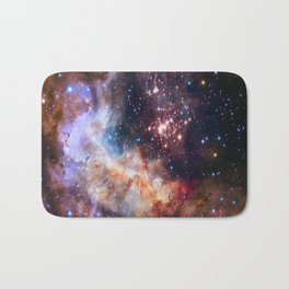 picture of star by hubble : celestial firework Bath Mat