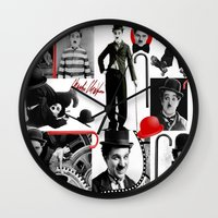 charlie Wall Clocks featuring CHARLIE by BLUE VELVET DESIGNS
