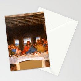 The Last Supper Painting by Leonardo da Vinci  Jesus Christ Stationery Cards