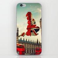 england iPhone & iPod Skins featuring ENGLAND by mark ashkenazi