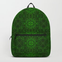 Butterfly Forest Bohemian Arabesque Pattern Emerald Backpack