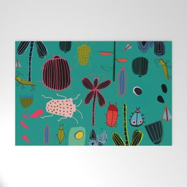 bugs and insects green Welcome Mat