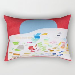 blue sun Rectangular Pillow