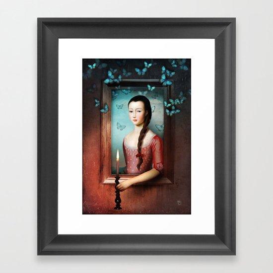 A Light in the Dark Framed Art Print