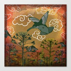 hummingbirds Canvas Print