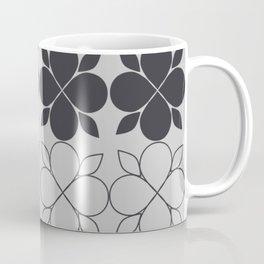 Black and Grey Flower Tile Coffee Mug