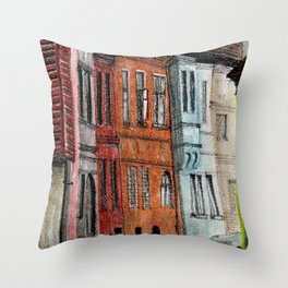 Old Town Street Throw Pillow
