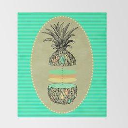Sliced pineapple Throw Blanket