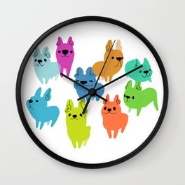 French Poopups Wall Clock