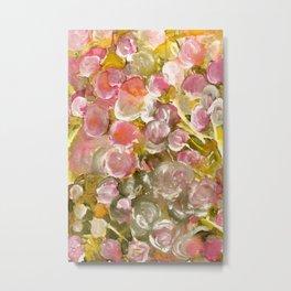 Satin Floral Dream Metal Print