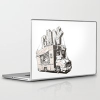truck Laptop & iPad Skins featuring Shopping Truck by Mitt Roshin