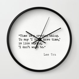 Lao Tzu quote Wall Clock