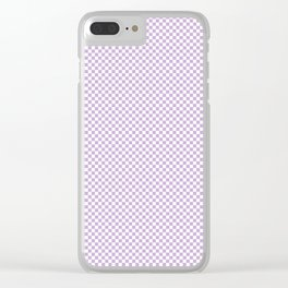 Chalky Crocus Purple and White Mini Check 2018 Color Trends Clear iPhone Case