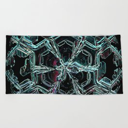 Caribbean in the Snow Beach Towel