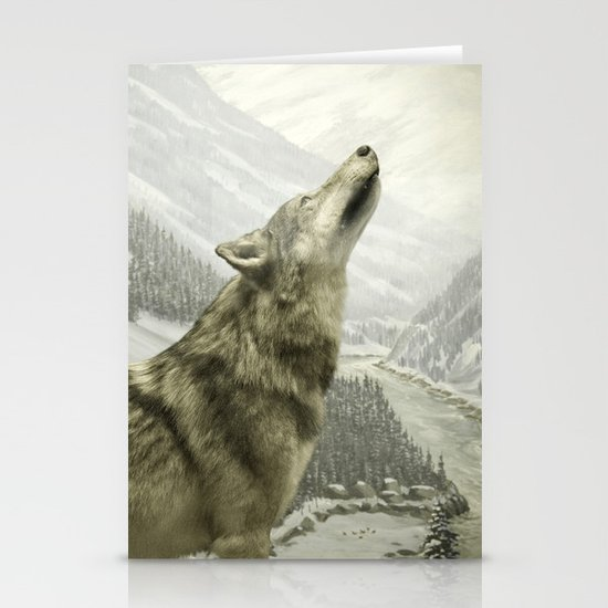 The Lone Wolf Stationery Cards