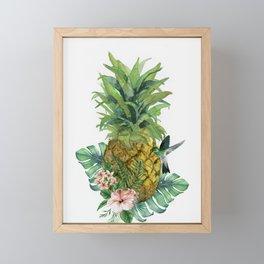 Tropical Pineapple Framed Mini Art Print