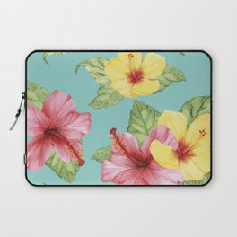 Tropical Hawaiian Hibiscus Floral Print Laptop Sleeve