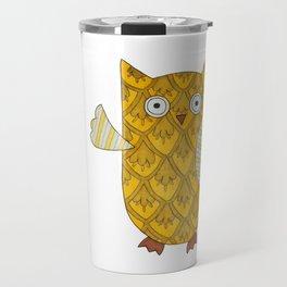 4 Gold Owls Travel Mug