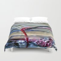 wine Duvet Covers featuring red wine by  Agostino Lo Coco