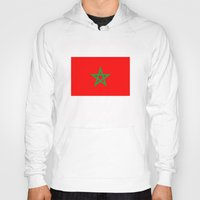 morocco Hoodies featuring Morocco country flag by tony tudor