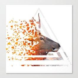 Caution Deer by GEN Z Canvas Print