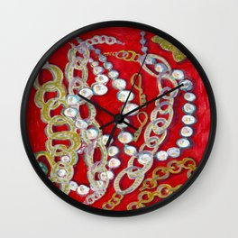 Pearls, Chains, & Cupid Wall Clock