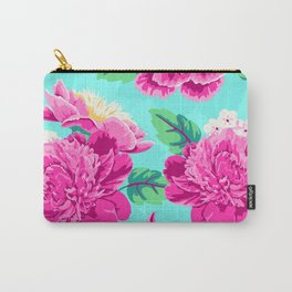 Bright Flowers Pretty Peonies Carry-All Pouch